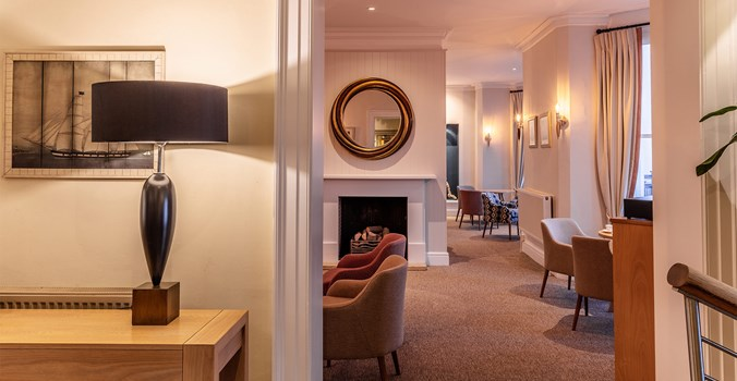 The Brudenell Hotel, Aldeburgh, the newly decorated lounge