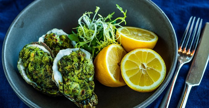 The Brudenell Hotel, Seafood & Grill Aldeburgh, Oysters Rockefeller